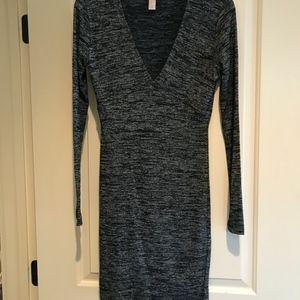 Forever 21 Contemporary Super Soft Gray Dress Med